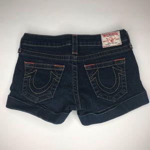 True Religion Allie Jean Shorts Size 27
